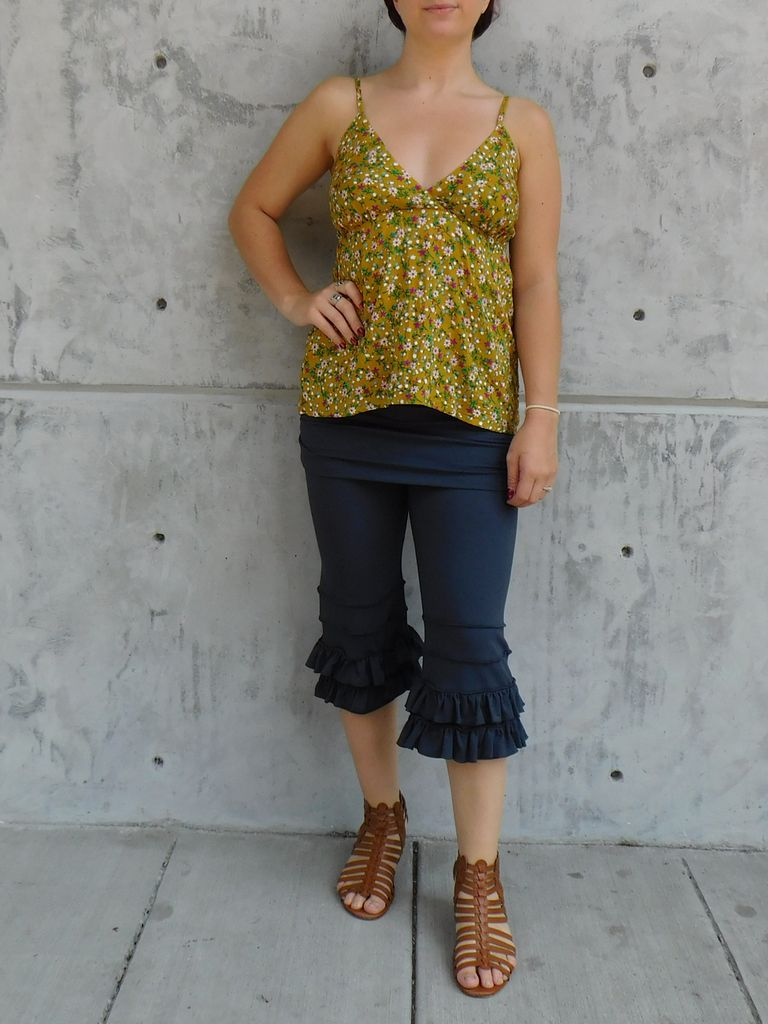 Gypsy Chic Sunset Slip Top, Yellow Floral Bouquets