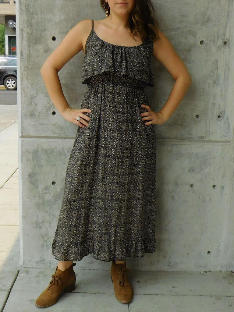 Gypsy Chic Prairie Maxi Dress,Eclipse