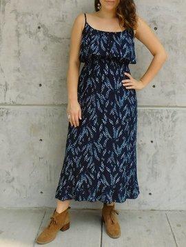 Gypsy Chic Prairie Maxi Dress, Flower Vines