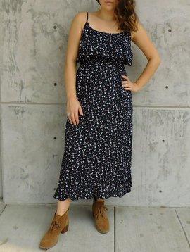 Gypsy Chic Prairie Maxi Dress, Black Floral Bouquets