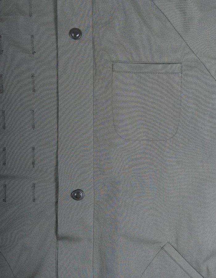 United Boroughs Kimono Overshirt Olive Cotton