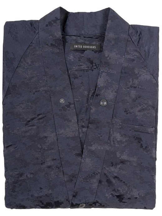 United Boroughs Kimono Jacket navy camo