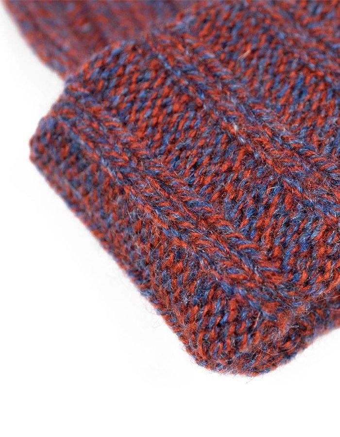 Seize sur Vingt Burgundy Melange Cashmere Hat