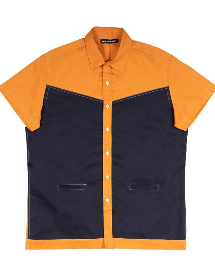 HEAD OF STATE+ HOS+ Twill Panel Button down Shirt