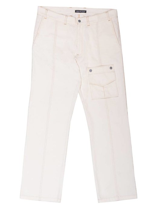 HEAD OF STATE+ HOS+ PRE 595 Cream Corduroy Trucker pant