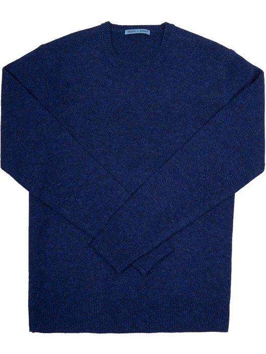 Seize sur Vingt Heathered Denim Crew Neck Sweater