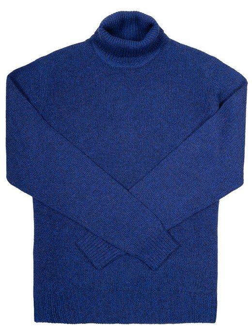 Seize sur Vingt Cobalt/Grey Turtle Neck Sweater