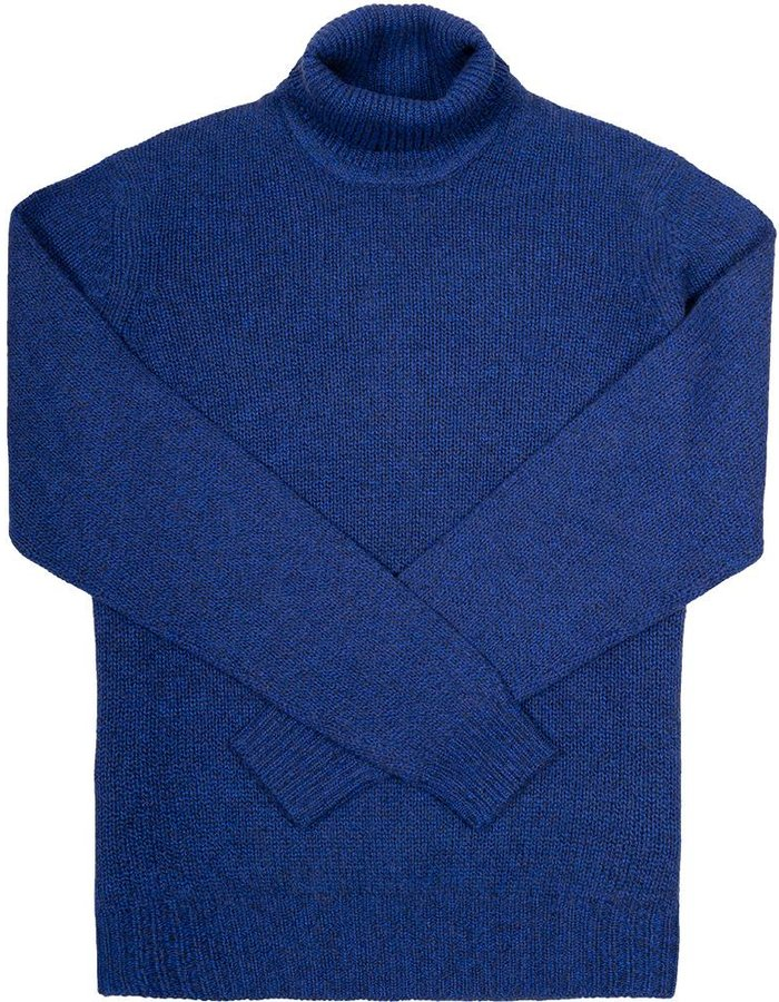 Seize sur Vingt Cobalt/Grey Turtle Neck Sweater