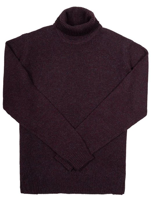Seize sur Vingt Burgundy/Navy Turtle Neck Sweater