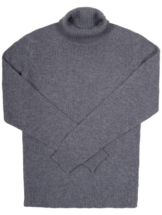 Seize sur Vingt Smog Dark Grey Turtle Neck Sweater
