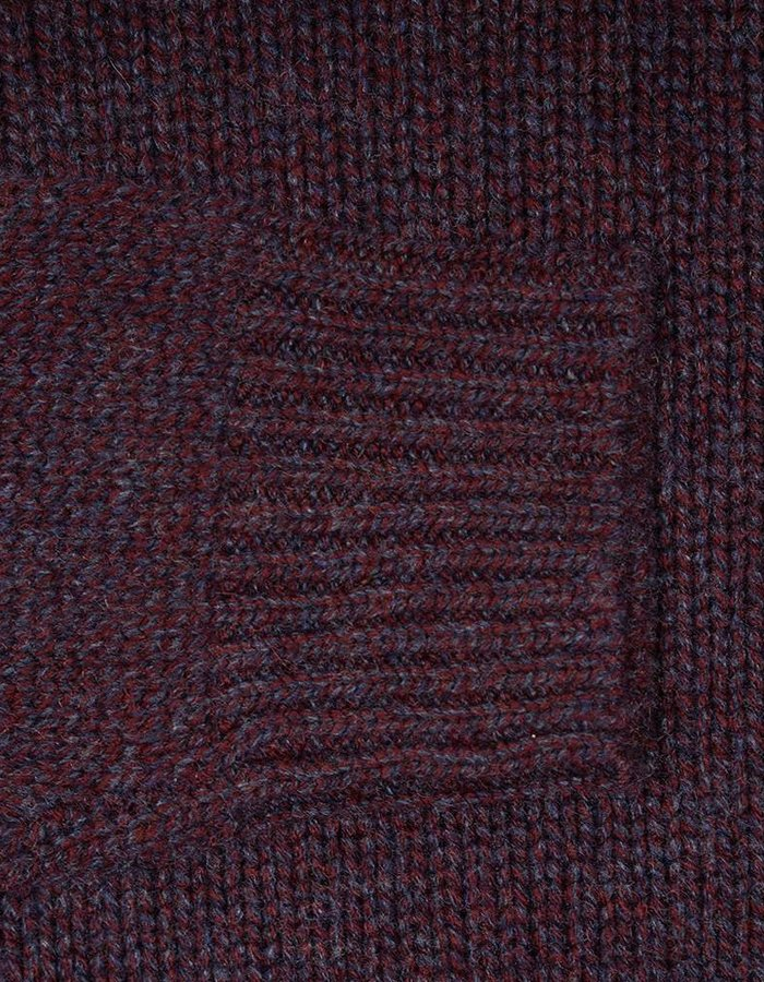 Seize sur Vingt Burgundy/Navy Turtle Neck Sweater