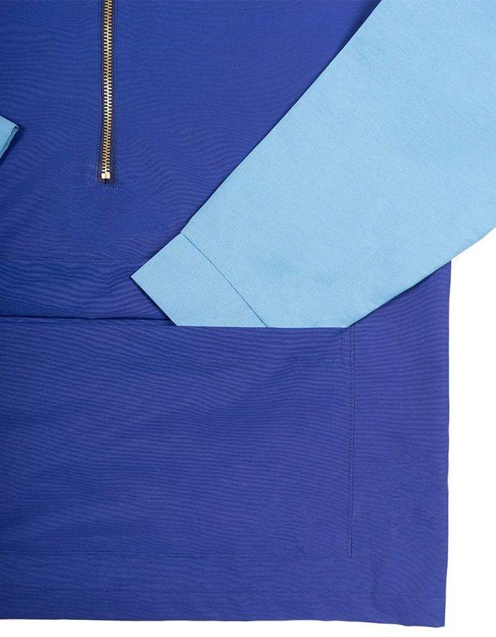 HEAD OF STATE+ HOS+ Blue Half Zip Jacket