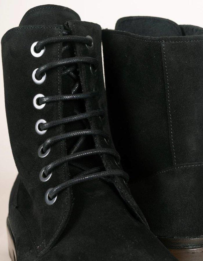 Troglodyte Homunculus Black Suede Combat Boot