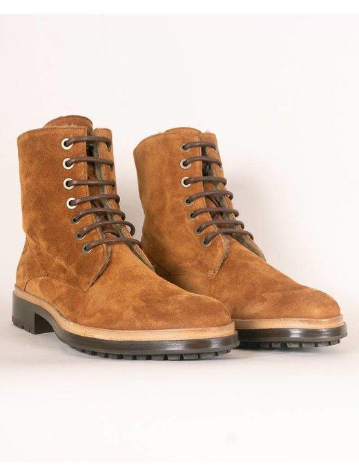 Troglodyte Homunculus Brown Suede Combat Boot
