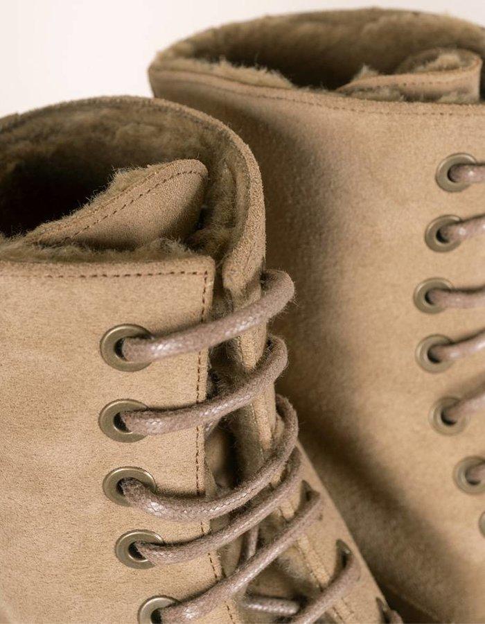 Troglodyte Homunculus Sand Suede Combat Boot