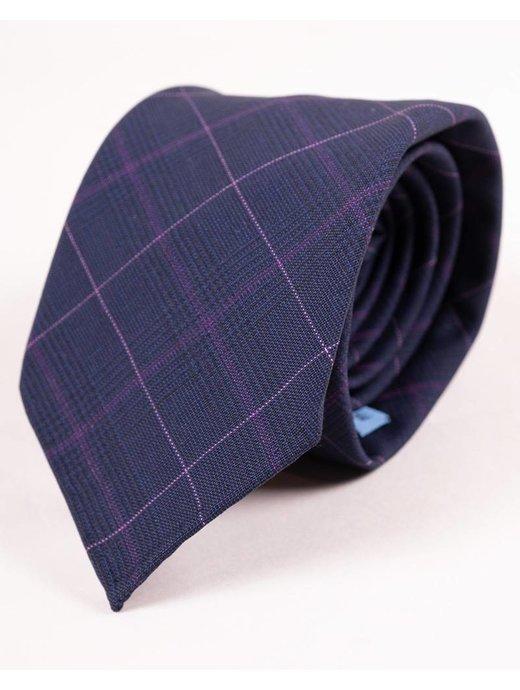 Seize sur Vingt Navy & Lavender Plaid Tie