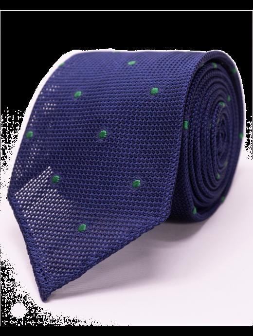 Seize sur Vingt Green Dot Navy Tie