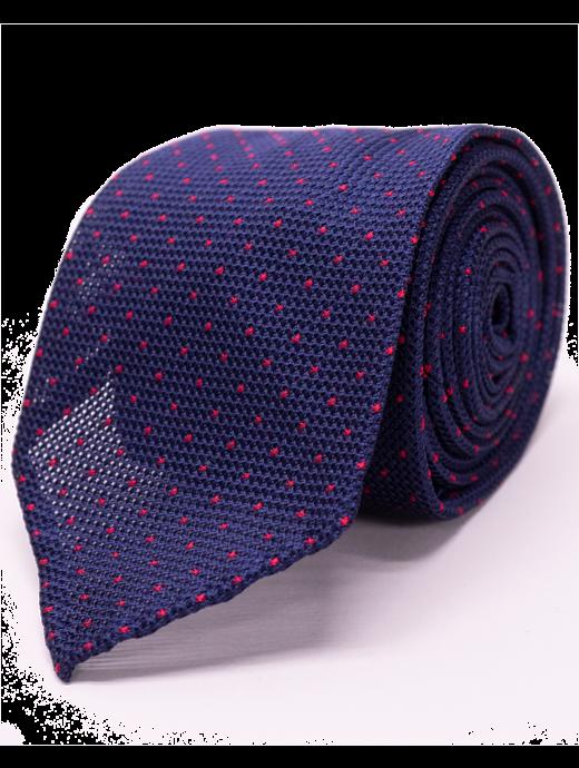 Seize sur Vingt Red Dot Navy Tie
