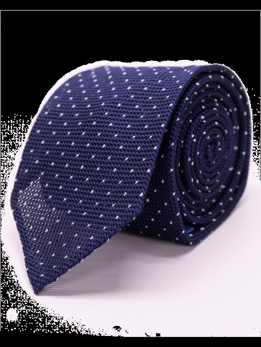 Seize sur Vingt White Dot Navy Tie