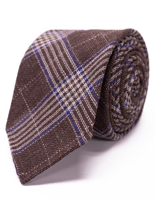 Seize sur Vingt Brown Plaid Tie