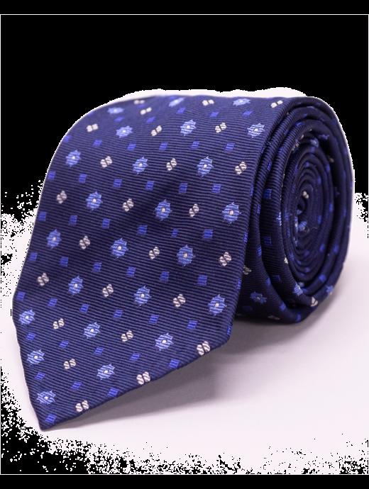 Seize sur Vingt Blue Graphic Navy Tie