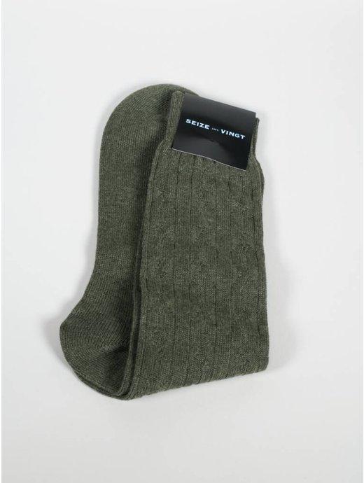 Seize sur Vingt ACC Olive Cashmere Sock