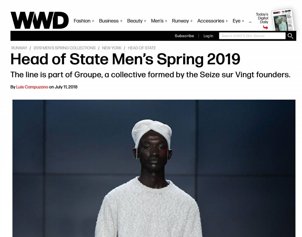 Head of State+ SS19 - WWD Review
