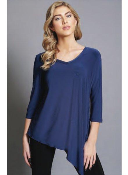 Compli K V Neck 3/4 Sleeve Knit Tunic