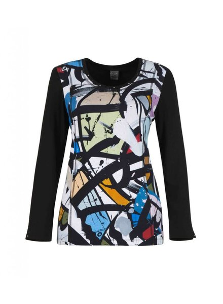 "Dolcezza ""Geometrie Variable"" Long Sleeve Top"