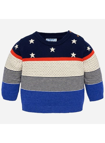 Mayoral Colorado Stars, Dots & Stripes Sweater