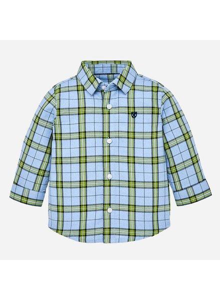 Mayoral Windowpane Checked Button-Down Shirt