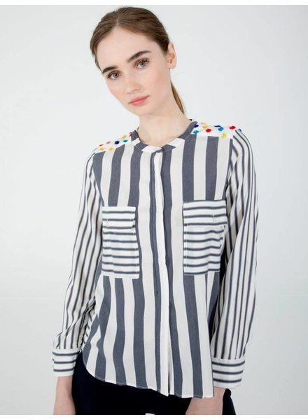 Vilagallo Camisa Gaia Soft Stripe Top