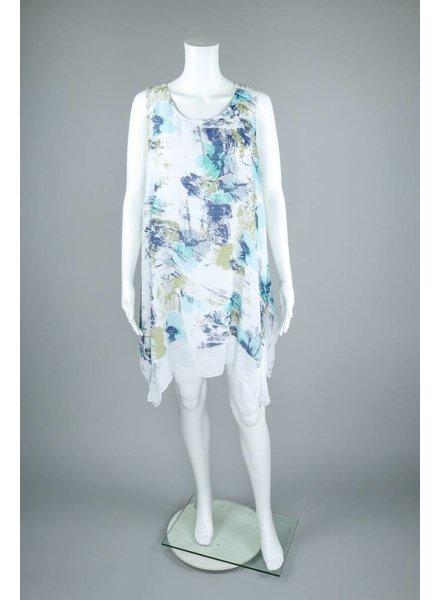 Alison Sheri Linen Layer Dress