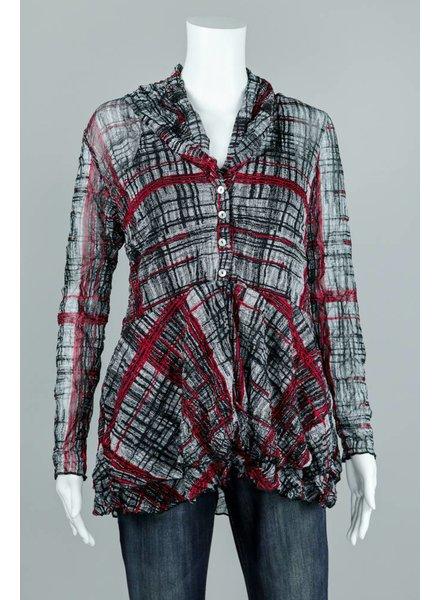 Comfy USA Natalie Peplum Crinkle Jacket
