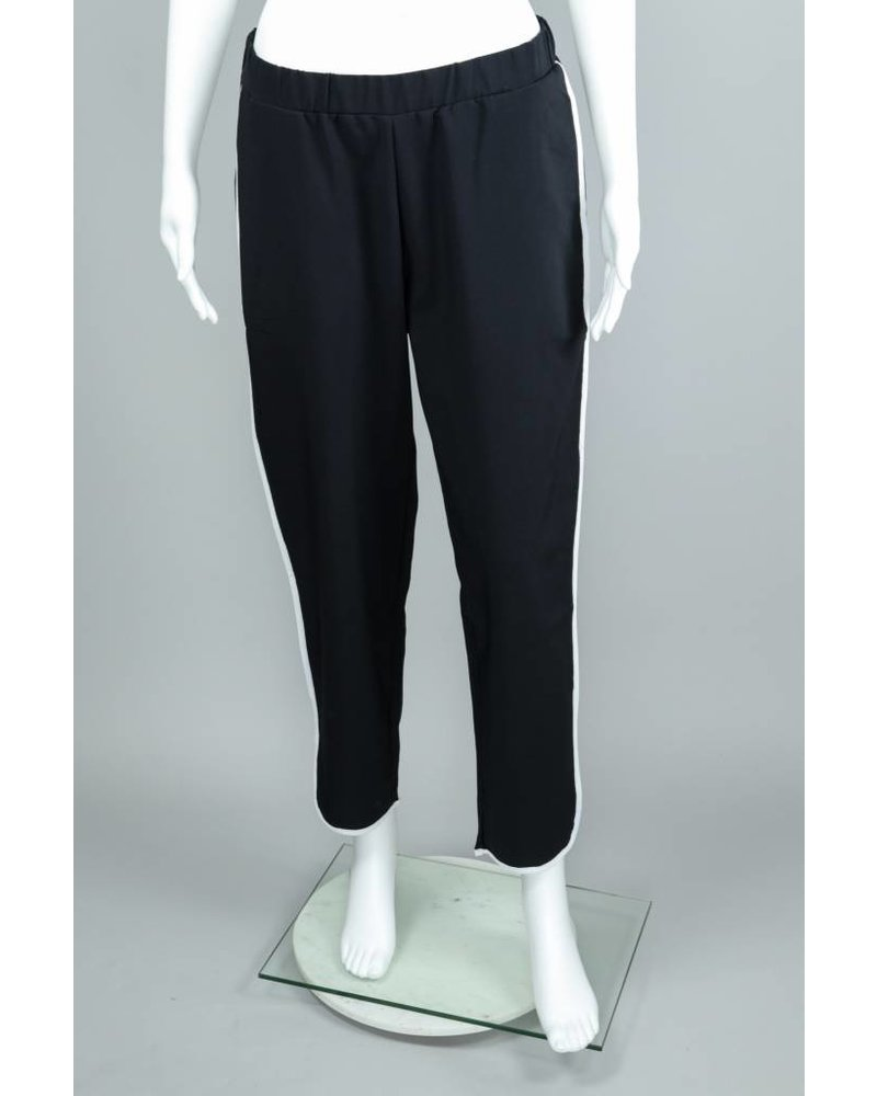 Isle Apparel Black Tux Side Pipping Pants