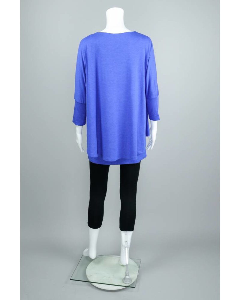 Isle Apparel Cobalt Aspen Double Layered Top