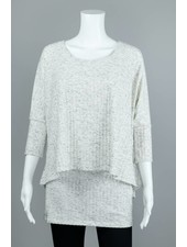Isle Apparel Blizzard Double Layered Top