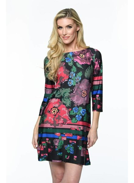 Isle Apparel Central Park Long Sleeve Scuba Dress