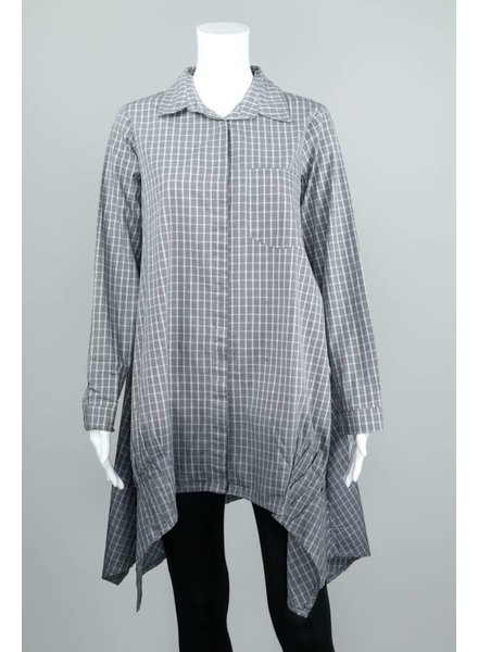 Luukaa Margaret Plaid Top With Quote
