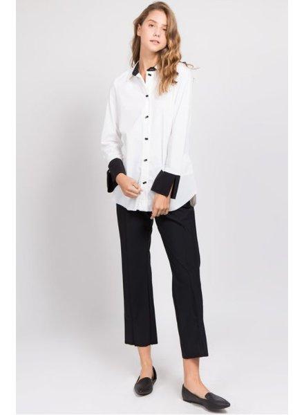 Et'Lois Milan Black Yoke Cuff Shirt
