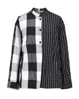 Alembika Half & Half Crinkle Plaid Jacket