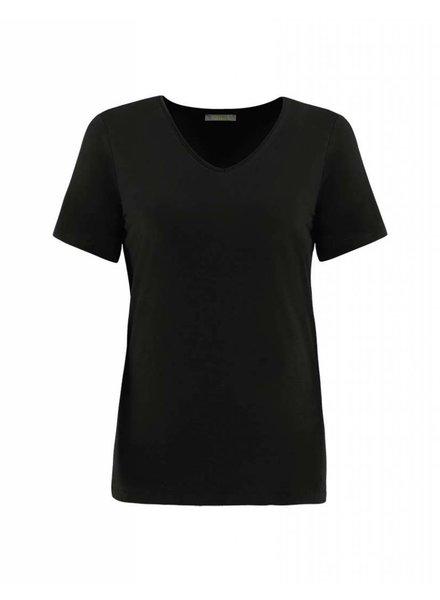 Dolcezza Black Knit V-Neck Tee