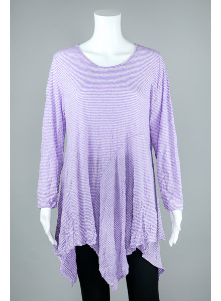 Comfy USA Violet Stripe Dee Tunic