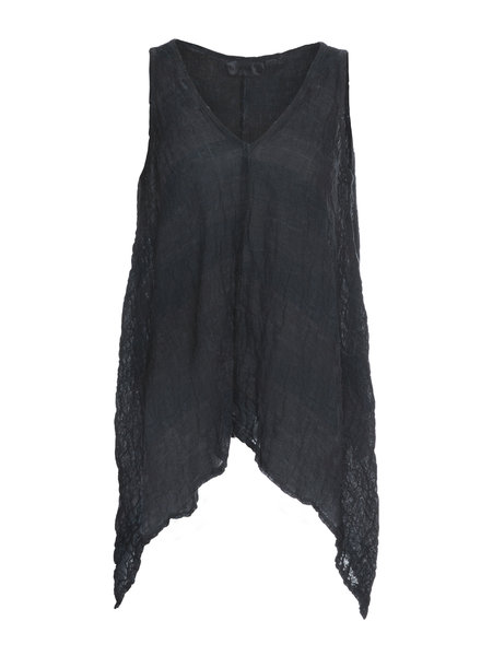 Luukaa Angel Navy Sleeveless V Neck Tunic