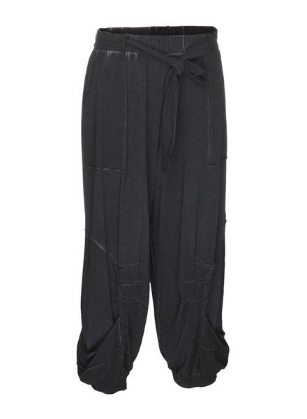 Luukaa Angel Navy Tie Elastic Waist Pants
