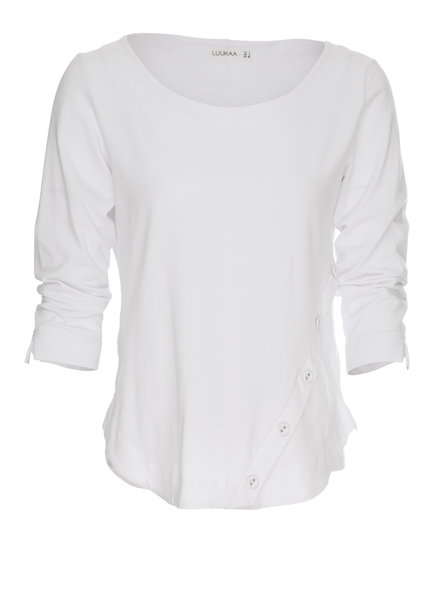 Luukaa Nikki Asymmetrical Button Top