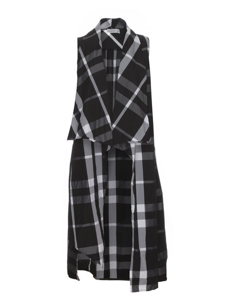 Luukaa Nikki Long Plaid Vest