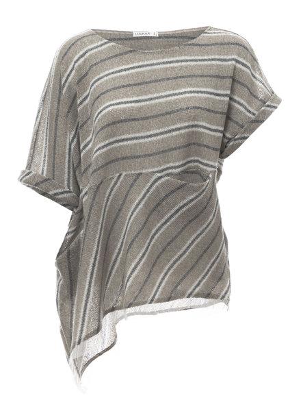 Luukaa Melanie Knit Stripe Blouse