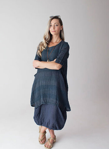 Luukaa Navy Angel Tunic