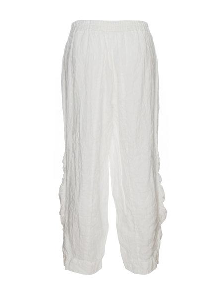 Luukaa Nicole White Cruch Leg Pocket Pant